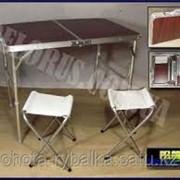 Столик раскладной дипломат +2 стула фото