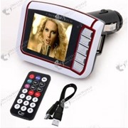 Беспроводной автомобильный MP3\MP4 плеер с встроенным FM трансмиттером , LCD экраном (1.8 дюйма) фото