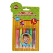 Грим карандаши, 6 неоновых цветов фото