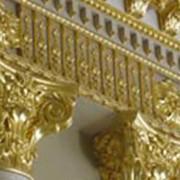 Золочение сусальным золотом фото