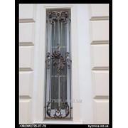 Кованая оконная решетка №81 фото