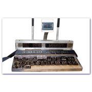 Пресс для изготовления ритуальных лент способом горячего тиснения металлизированной фольгой фото