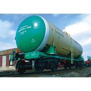 Вагон-цистерна для перевозки нефтепродуктов фото
