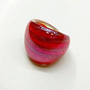 Кольцо Муранское стекло, красное, размер 17-18 фото