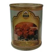Консервы мясные Говядина тушеная Вкусная в соусе ТУ BY 500011238.045-2006 фото