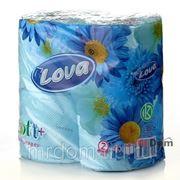 Туалетная бумага целлюлозная 2-х сл. mylova голубая 4шт (859140) фото