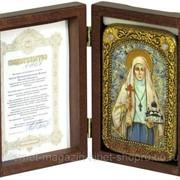 Настольная икона Святая преподобномученица великая княгиня Елисавета на мореном дубе фото