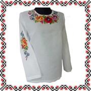 Вышиванка Цветные сны женская с вышивкой ручной работы фото