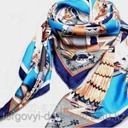 Платок Hermes Blue Silky, код 3612590 фото