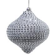 Декор Капля со стразами серебр. d10см фото