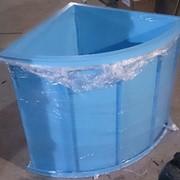 Угловая пластиковая купель полипропиленовая для бани, дачи фото