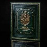 Книга охотника. Расписной обрез. Бронзовый барельеф. Сабанеев фото