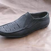 Туфли летние мужские от производителя. МОКАСИН МУЖСКОЙ Модель:M-149 blek фото