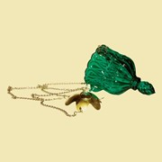 Лампада подвесная Снежинка (зеленая). Арт.Ст.1938 фото