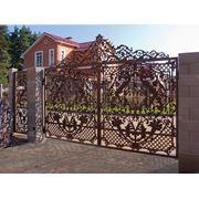 Декоративные ворота фото