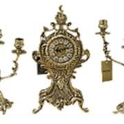 """Каминные часы с канделябрами """"Каранка"""" арт.BP-32040 Belo De Bronze фото"""