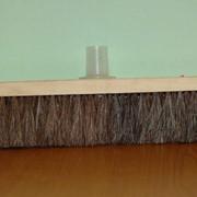 Щётка для уборки пола (натуральный волос) с ручкой фото