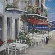 Картина Кафе ручная работа.подписана (4) фото