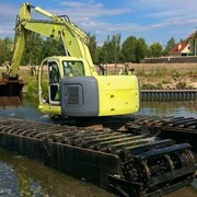 Очистка озера Киев фото