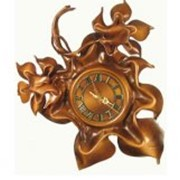 Часы из кожи из на основе бамбука фото