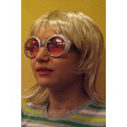 Очки диско серебро фото