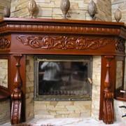 Декоративная панель для камина из дерева с резьбой чпу фото