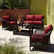 Набор садовой мебели, George Home Sumatra 4 Piece Conversation Sofa Set in Chilli Red фото