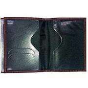 Обложка для автодокументов, из натуральной кожи, коричневая фото