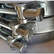 Хомуты усиленные, болтовые GBS 17-19 мм. фото