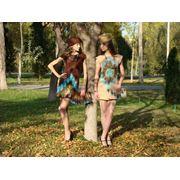 Платье ручного валяния из шерсти. фото