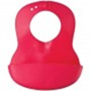Нагрудник Happy Baby пластиковый мягкий Soft Red фото