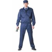 Костюм для охранных и силовых структур Альфа, куртка, брюки (ткань смесовая) синий фото