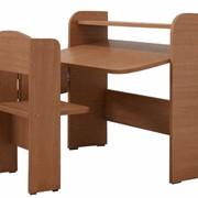 Парта ученическая одноместная раскладная, материал: ДСП, артикул: 953, изготовление деревянной мебели и игрушек для детей из натурального дерева: бук,спортивный инвентарь фото