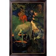 Картина белая лошадь, 1898 , Гоген, Поль фото
