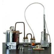 Самогонный аппарат, дистиллятор 9 литров 2 сухопарника, термометр, нержавеющая сталь фотография