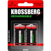 Перезаряжаемые батарейки Krossberg Rechargeable - C size фото