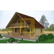 Дом каркасно-щитовой Проект №16 8х7.5 фото