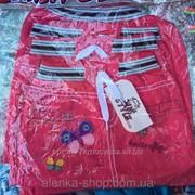 Детская джинсовая юбка Бабочка на 1-4 года малиновая, код товара 254161880 фото