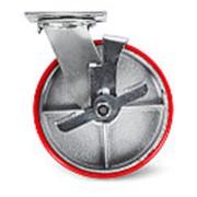 Колесо большегрузн. поворотн. PU тормоз TOR (SCpb 42) 100мм фото