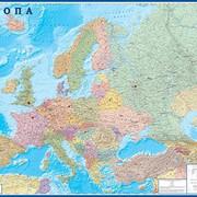 """Настенная политическая карта Европы """"Европа"""" 1,58х1,18 м фото"""