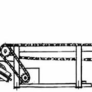 Транспортер подающий цепной модели ЦПТ-6 к станку СТЛБ-32 фото