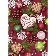 Бумага упаковочная Stewo Charming Decoration, 0.7 x 2 м Новогодний фото