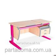 Стол универсальный трансформируемый СУТ.17.04-03 клен/розовый фото