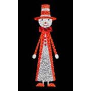Снеговик в красном костюме фото