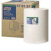 Полотенца протирочные Tork Premium W1/2/3, 1-слойные нетканый материал суперпрочный, 160л 570137 фото