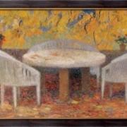 Картина Под большим каштаном в Маркиьроле, осень, 1915, Мартин, Анри Жан Гийом Мартин фото