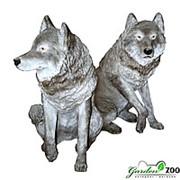 Фигура Большой серый волк фото
