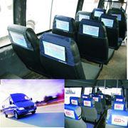 Реклама на подголовниках в маршрутных такси фото