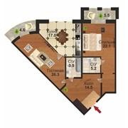 2х комнатная квартира в ЖК Тулпар Элит фото