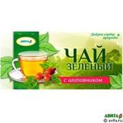 Зеленый чай с шиповником 20 ф/п х1,5 гр фото